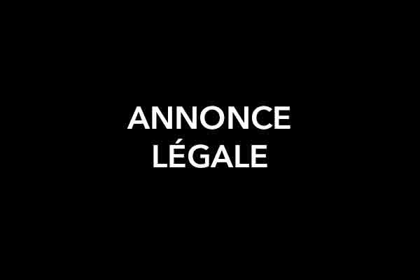 Annonce-Le´gale
