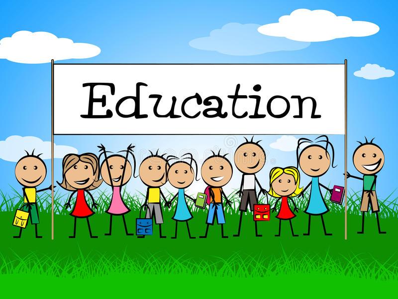 la-bannière-d-éducation-indique-l-enfant-et-l-étude-d-enfants-en-bas-âge-46493118