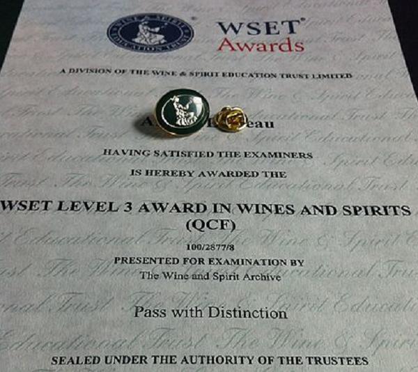 Formation en vin Wset