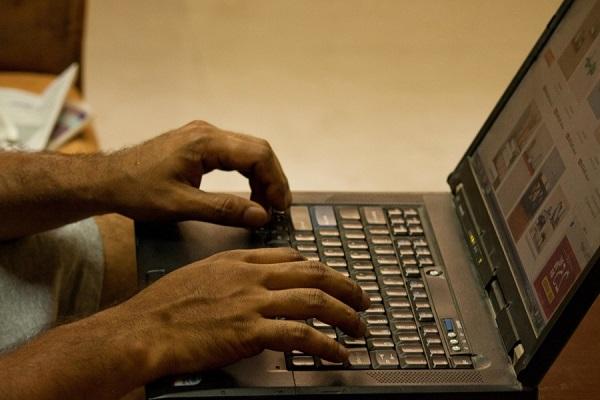 laptop, working